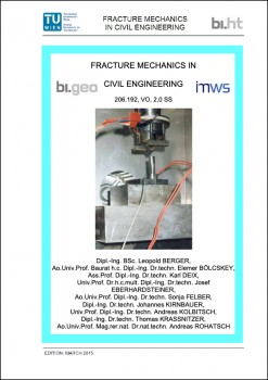 FRACTURE MECHANICS IN CIVIL ENGINEERING