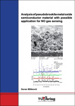 Analysis of pseudobrookite metal oxide semiconductor material
