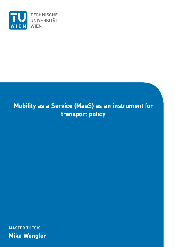 Mobility as a Service (MaaS) as an instrument for transport polic-AA0007