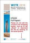 World Conference on Timber Engineering (WCTE 2016)